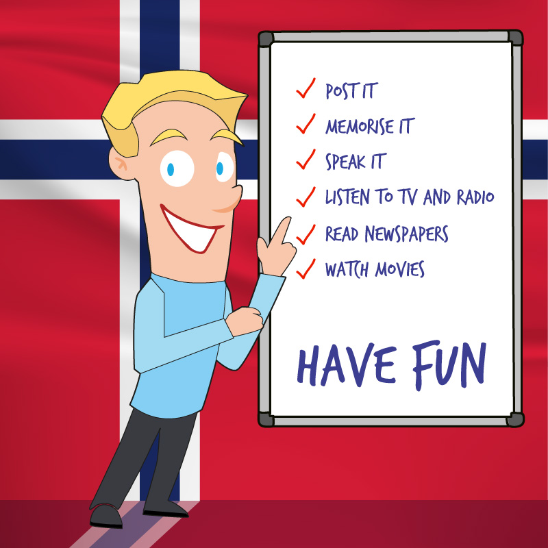 10 tips for learning Norwegian fast - (and FREE of charge)