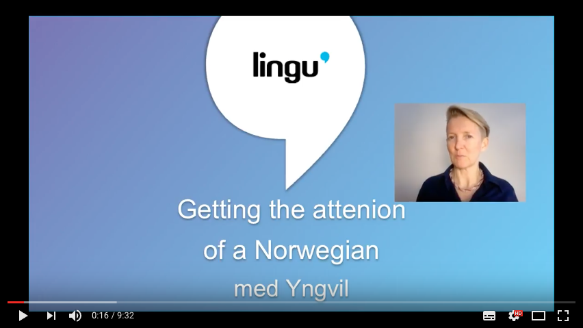 Du, unnskyld... How to get the attention of a Norwegian -