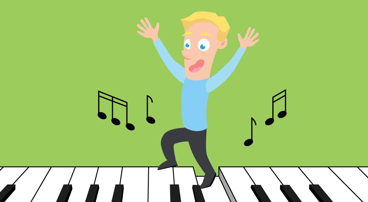 Ikke bokstavelig talt - Del 2 - Tramp i klaveret