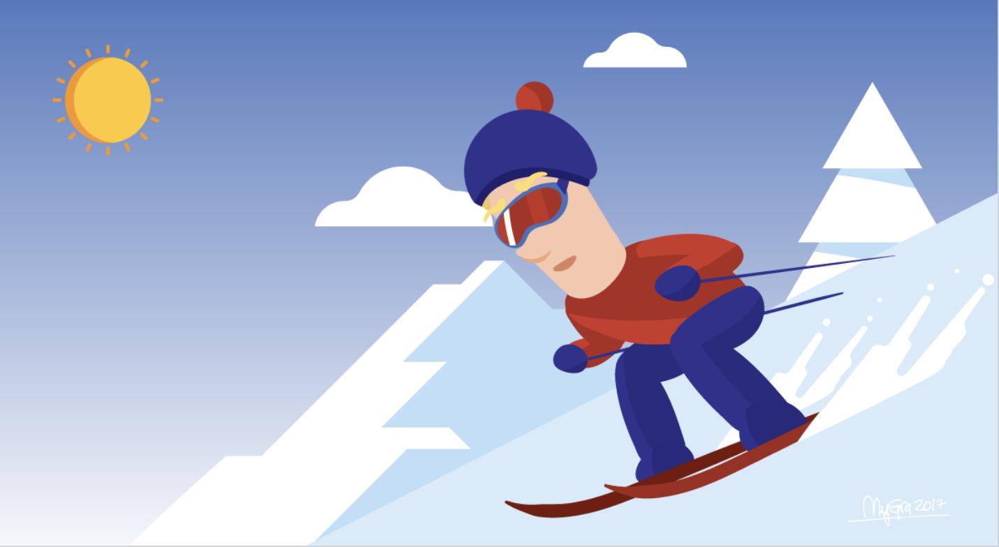 Født med ski på bena  - Språkuttrykk fra skisporten