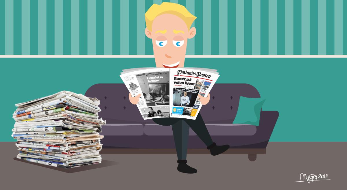 Les avisen! - 5 millioner mennesker - 230 aviser
