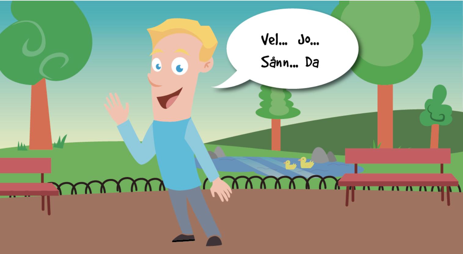 Så da så, ja vel ja, å nei da - - Små ord på norsk