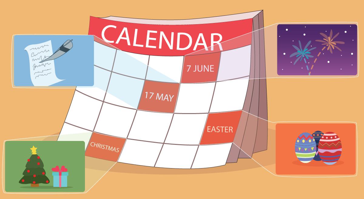 Røde dager på kalenderen - Norske helligdager